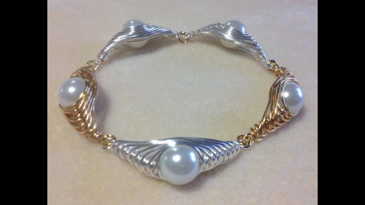 Tutorial Herringbone Wire Wrapped Pearl Part 2 Video 76