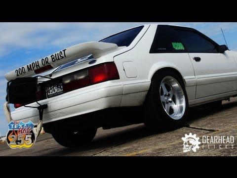 Fox Body Wheels >> 210mph 1990 Fox Body Mustang - Standing Mile (Texas Mile) - YouTube