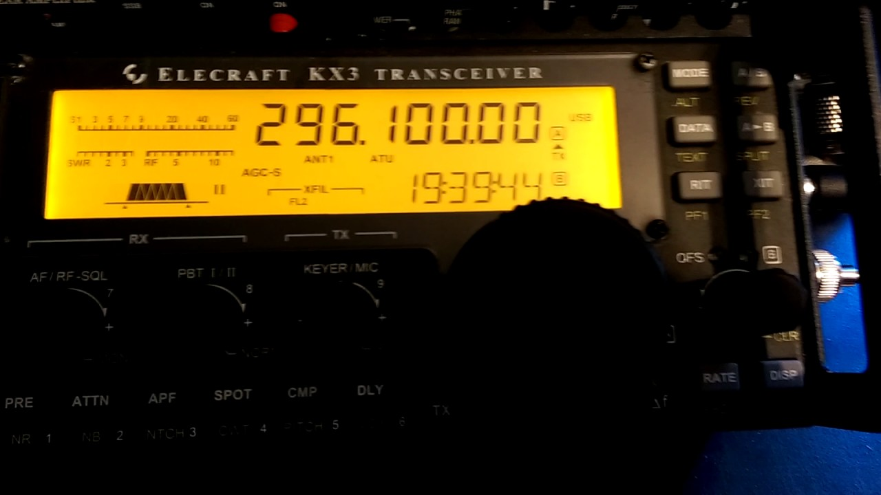 Testing KX3 and 1296 Transverter
