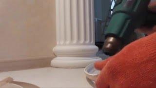 Как УсТаНоВиТь плинтус вОкРуГ декоративной КоЛоНнЫ ? :)(Не долго ломая голову, применили декор - изделие гибкий профиль для окантовки нижней части колонны , итог..., 2014-07-29T17:39:20.000Z)