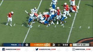 2020 American Football Highlights: Oklahoma State 16, Tulsa 7