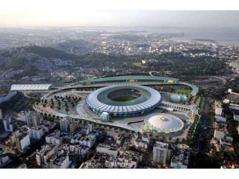 The biggest football stadium in the world , Maracana