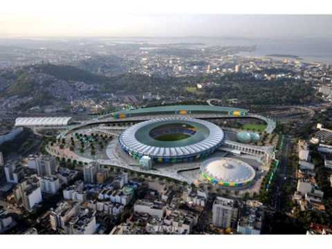 The biggest football stadium in the world , Maracana