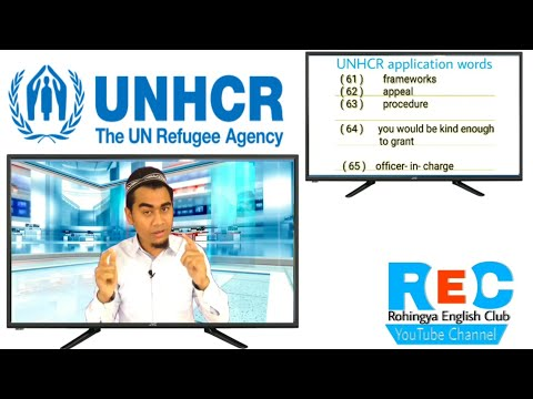Words used in UNHCR application for Rohingya people