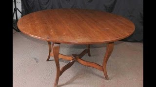 French Farmhouse Rustic Dining Table Cherry Wood