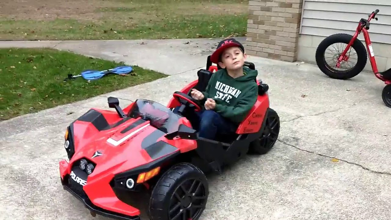 High end custom kids Peg Perego Polaris Slingshot build