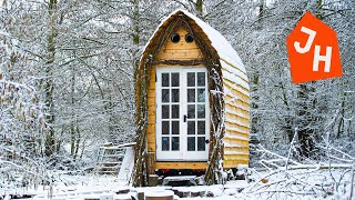 TIMELAPSE  Young Man Gets Laid off and Builds Tiny House CABIN from scratch.
