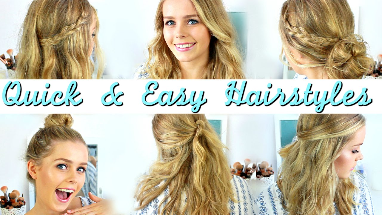 quick easy heatless hairstyles
