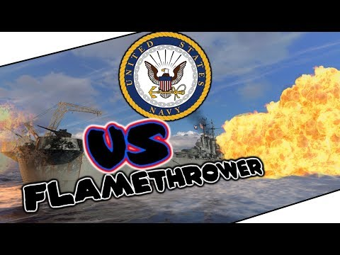 Worcester 7 KILLS Flamethrower || World of Warships