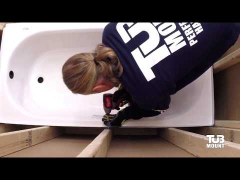 How to install an alcove bathtub