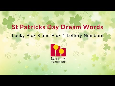 St Patricks Day Lottery Dream Words - Pick 3, Pick 4 and