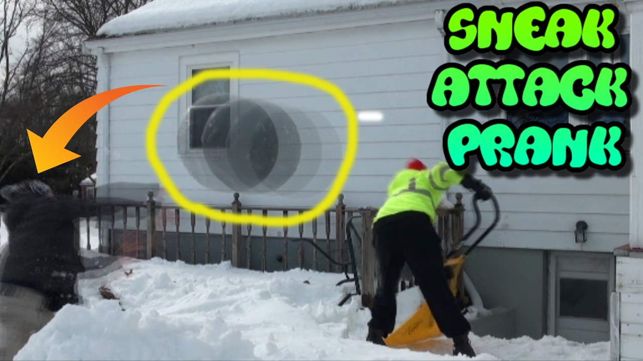 Exercise Ball Sneak Attack Shoveling Prank
