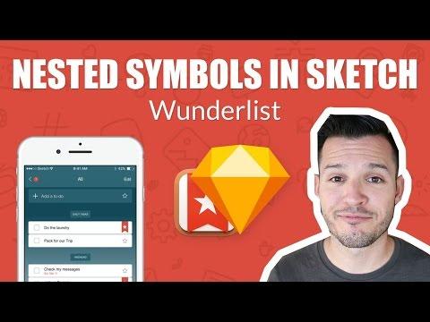Nested Symbols in Sketch - Wunderlist Todo App - Let's Make That In Sketch