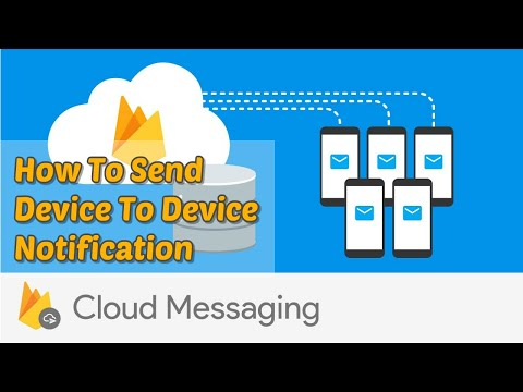 Firebase Push Notifications | How To Send Device To Device Notification In Android | Part 2