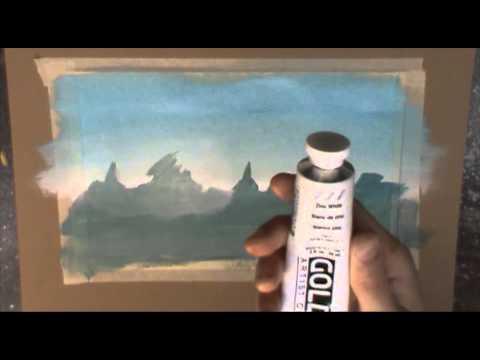 Acrylic Painting Tutorial - Mist and Fog