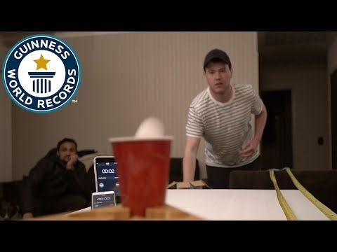 Most ping pong balls into a pint glass in one minute – Guinness World Records