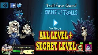 TROLL FACE QUEST: GAME OF TROLLS (By Spil Games) All levels Walkthrough & Fails Android Gameplay