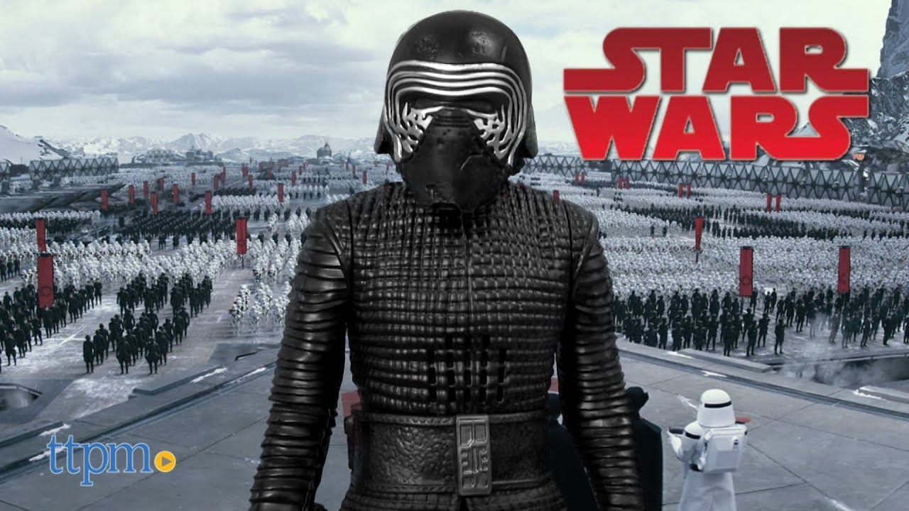 "NEW Star Wars 12/"" KYLO REN Interactech Figure Lightup Saber Sound Phrases DISNEY"