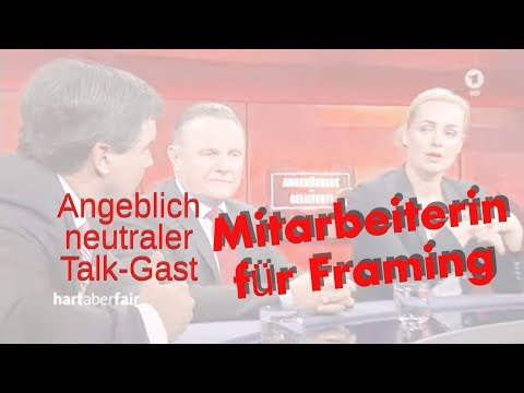 ARD ZDF Mogelpackung pur: Nicht offizielle Mitarbeiterin für Framing in Talkshow ARD ZDF