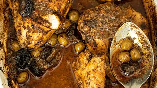 Za'atar Roast Chicken with Olives & Prunes