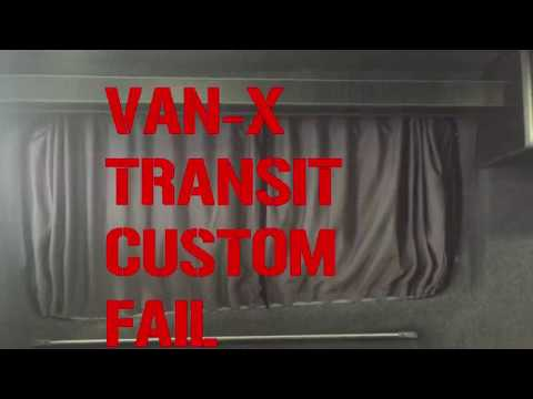 Vanx Curtains Fail Transit Custom Install And Review Youtube