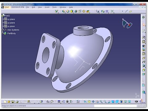 Extruded boss on the sphere - CATIA V5 Exercise - 2D into 3D modeling