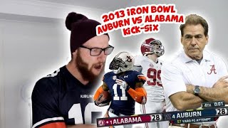 "Rugby Player Reacts to 2013 IRON BOWL ""Kick Six"" Alabama Vs Auburn!"