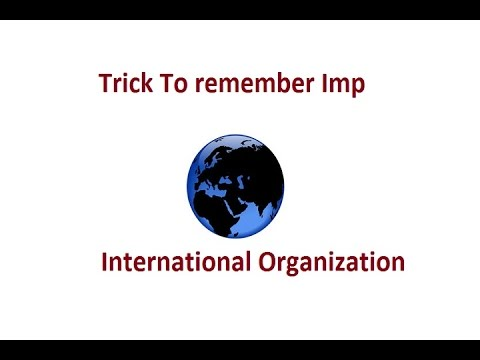 Trick For International Organization Member Countries