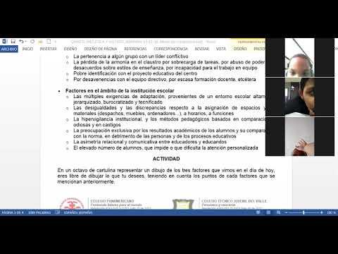 28/05/2021 quinto dos ética: factores de convivencia parte 2 semana 15