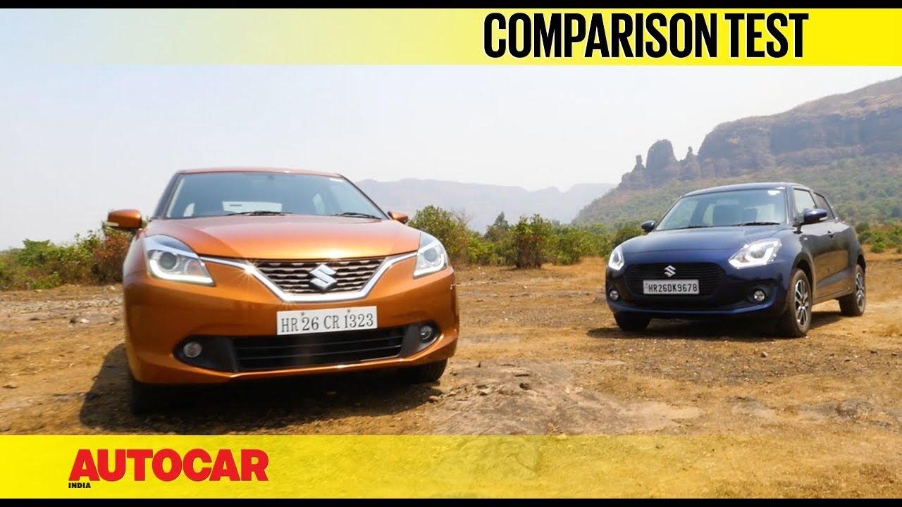 New Maruti Swift vs Maruti Baleno   Comparison Test   Autocar India