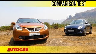 New Maruti Swift vs Maruti Baleno | Comparison Test | Autocar India