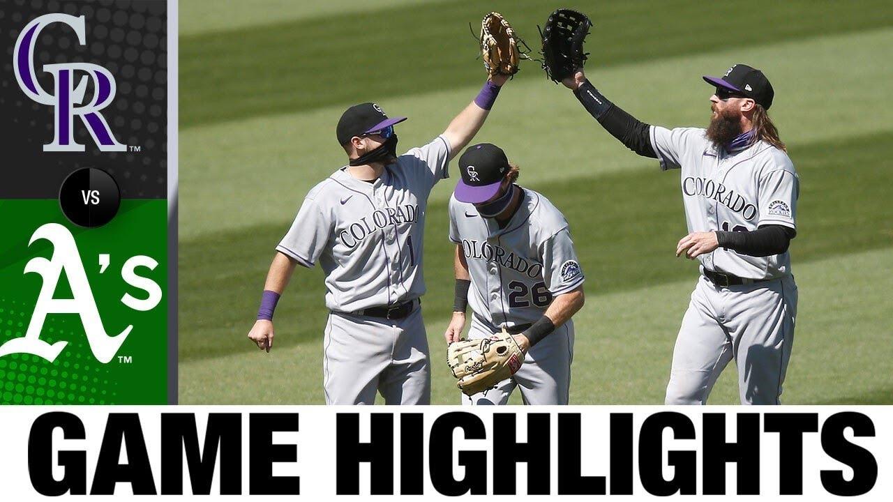 Germán Márquez leads Rockies to 5-1 win | Rockies-Athletics Highlights 7/29/20