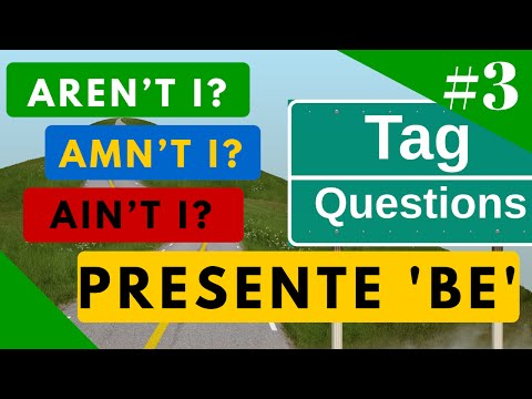 "Tag Questions Presente de ""BE"" aren"