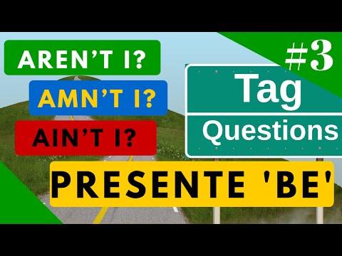 """Tag Questions Presente de """"BE"""" aren"""