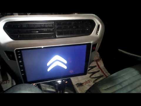 Магнитола на 8 Андроиде 8227L Demo установка на Ситроен Элизе