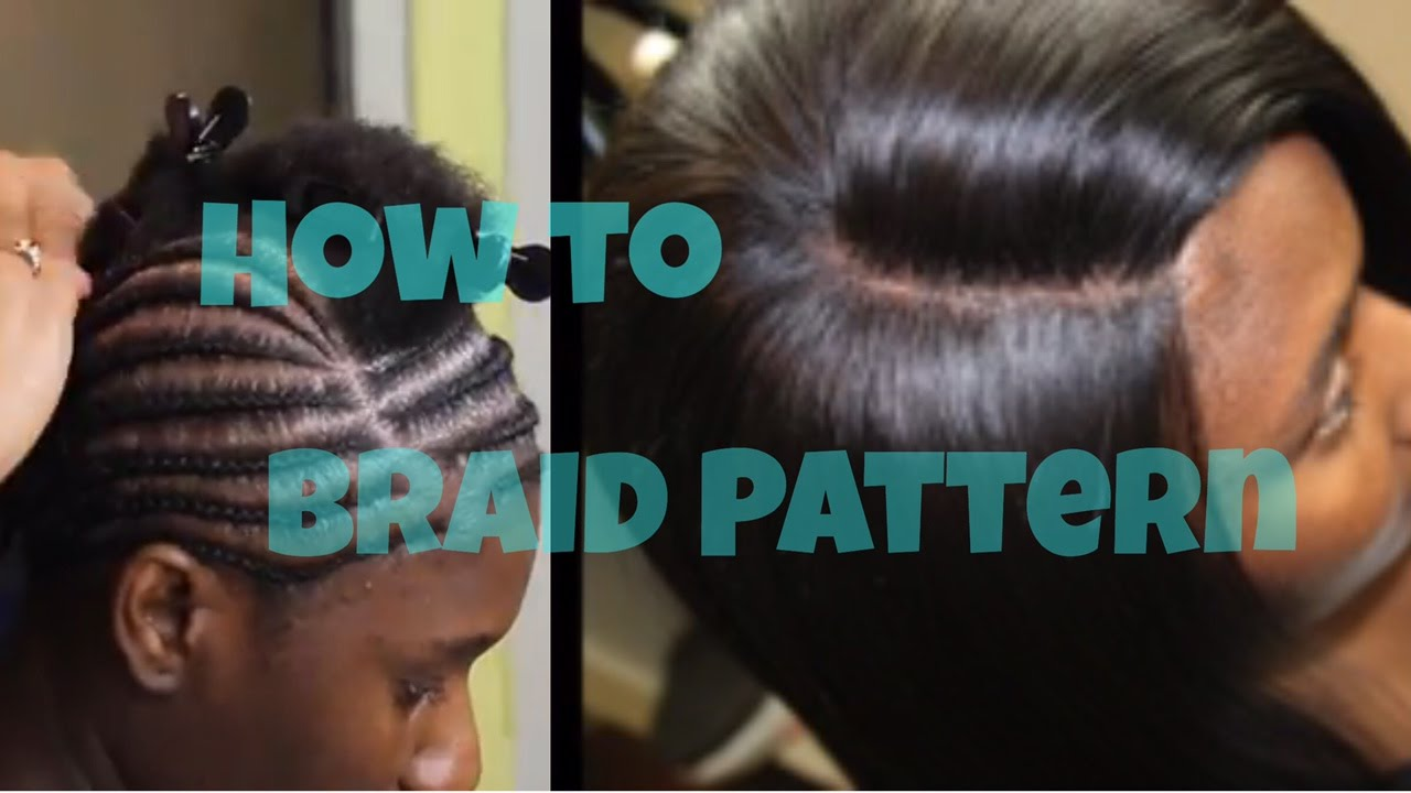 Braid Pattern Tutorial For A Lace Closure Sew In How To YouTube - Diy braid pattern