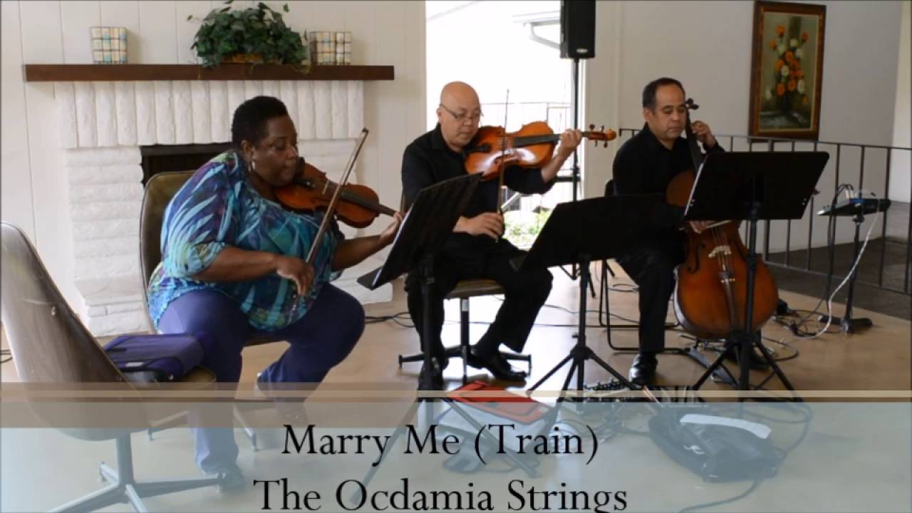 Marry Me Train String Trio Cover By The Ocdamia Strings