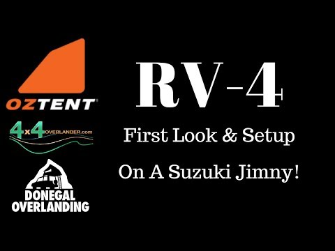 FIRST LOOK: Oz Tent RV-4 on a Suzuki Jimny! Setup.
