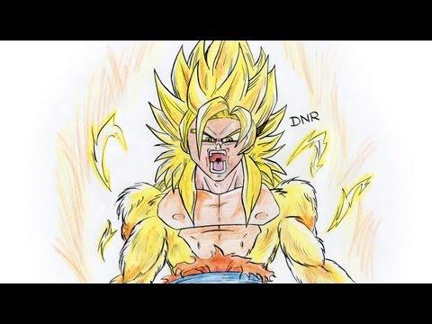 Como dibujar a Goku SSJ DIOS/ How to Draw Goku ssj GOD - YouTube