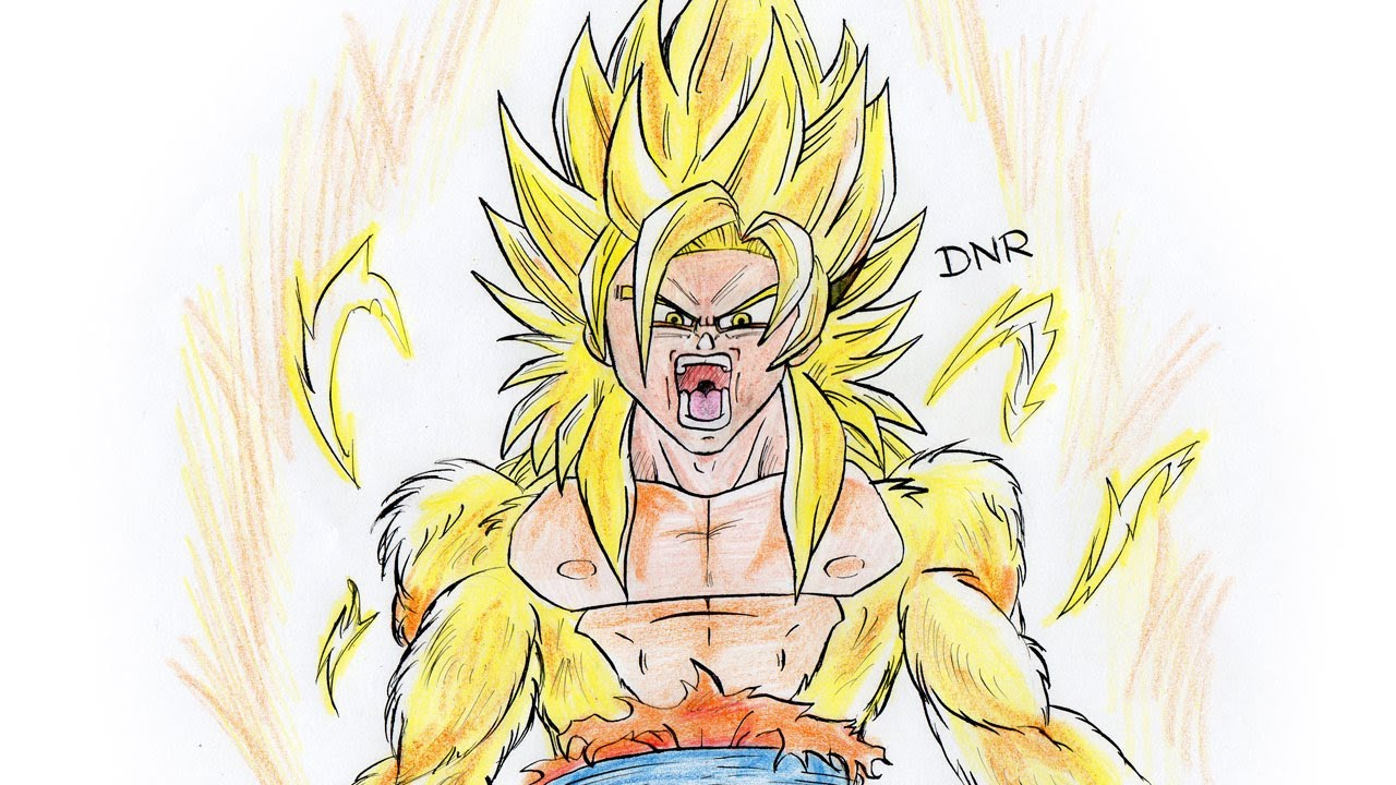 Como dibujar a Goku SSJ DIOS How to Draw Goku ssj GOD  YouTube