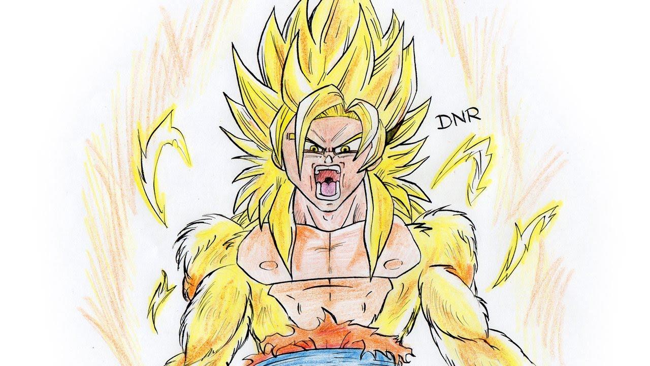 Como Dibujar A Goku Ssj Dios How To Draw Goku Ssj God Youtube