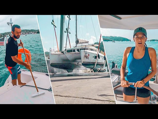 SAILBOAT WORK AND HAUL OUT | Ready For Boat Bottom Paint