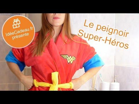 Le peignoir Wonder Woman 🎁 IdéeCadeau.fr