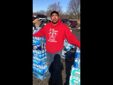 Flint resident Art Horton thanks North Carolinians