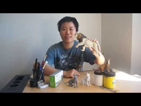 Sculpting And Painting Realistic Cats In Polymer Clay Training With Qingyu Li