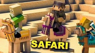 Minecraft SAFARI - TEN CZŁOWIEK COŚ UKRYWA... #1