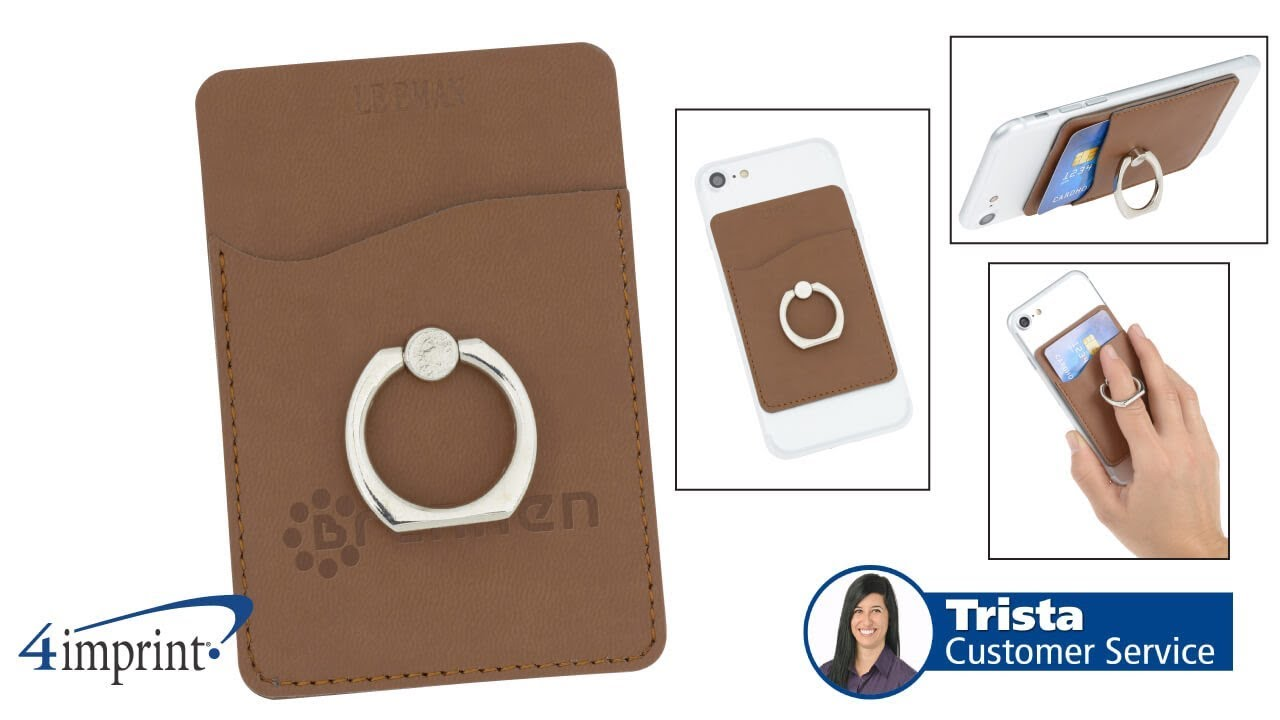 new product b21f7 0d9db Tuscany Smartphone Wallet with Ring Phone Stand - Promotional Products by  4imprint