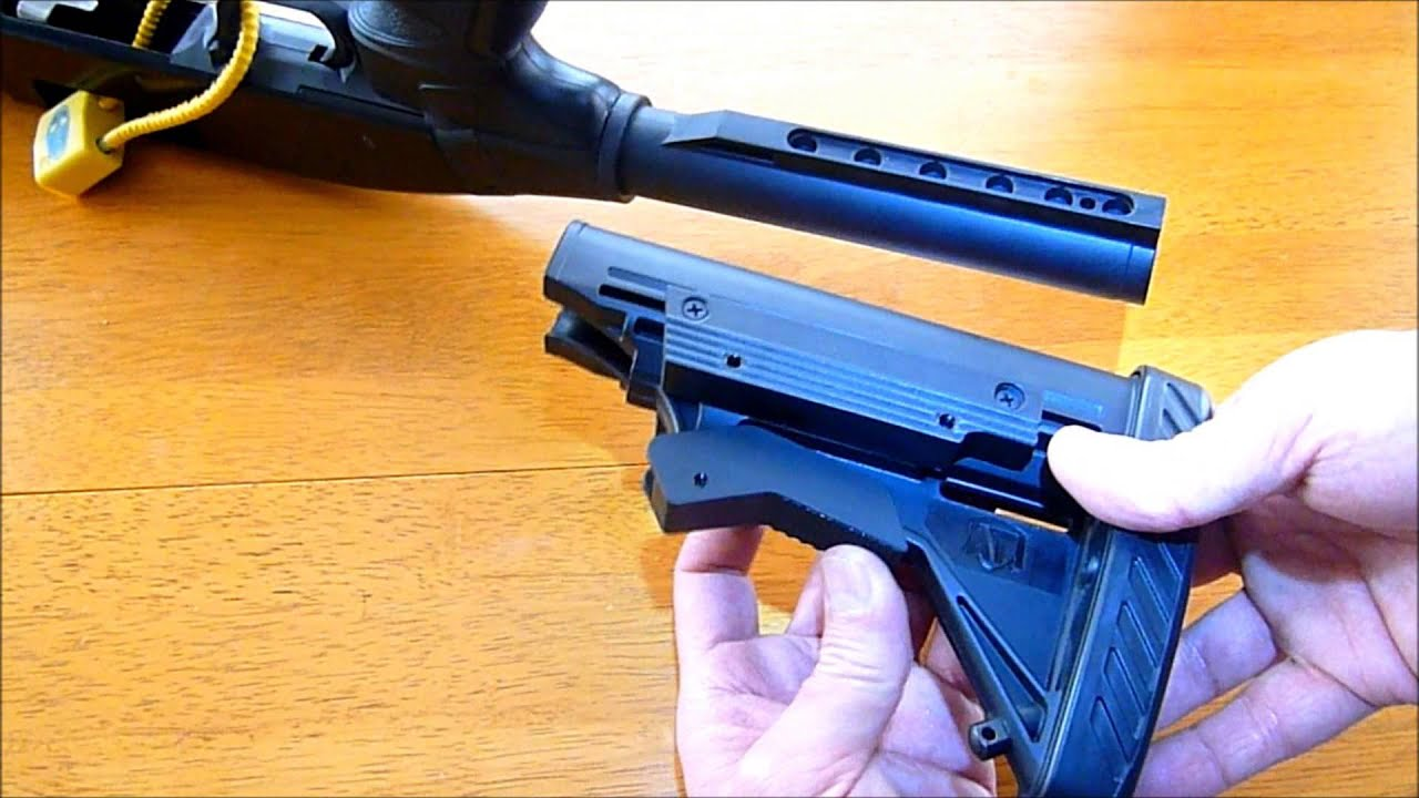 How To Remove Six Postion Butt Stock From Buffer Tube Youtube Mossberg 715t Exploded Diagram
