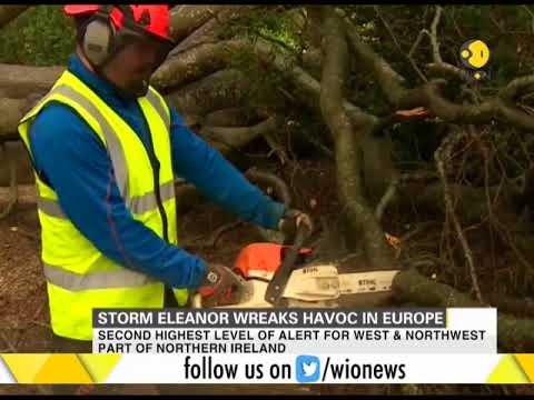 Storm Eleanor wreaks hoavoc in Europe