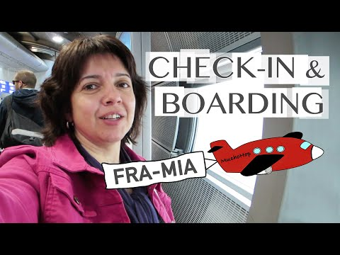 Flying to Miami: Check-in and Boarding at Frankfurt Airport (Terminal 1)